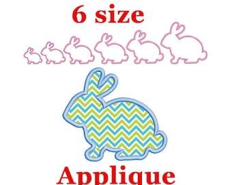 Bunny Applique Embroidery Design. Silhouette Easter Rabbit. Easter Embroidery Design. Easter Bunny Embroidery Design. Rabbit Embroidery.