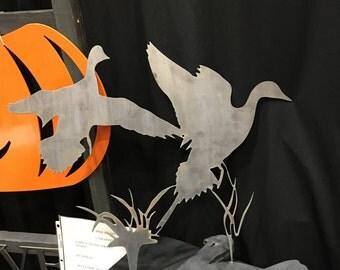 Flying Ducks - metal sign