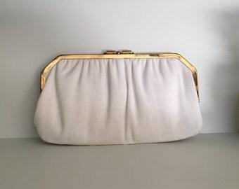 Vintage white clutch