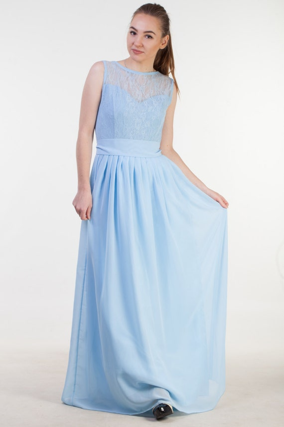 pastel blue bridesmaid dresses
