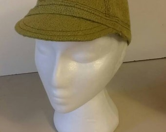 Funky green cycling cap