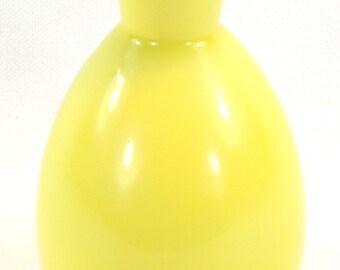 Vintage Yellow Mini Ceramic Vase