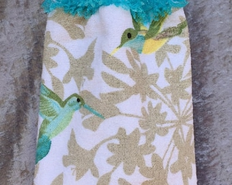 Hanging Hand Towel – Knitted Lace – Birds