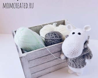 HIPPO | Amigurumi toy | Crochet toy
