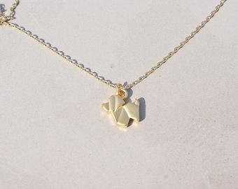 Dog necklace, Origami Dog Necklace, Animal jewelry