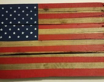 American Flag Mini Pallet