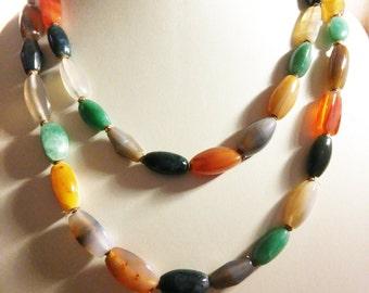 Multi Semi-precious Gemstone Necklace