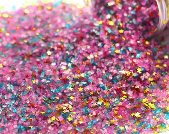 Golden Birthday Fancy Glitter Sugar Crystals, Edible Glitter, Rainbow Sugar Crystals, Edible Gold Glitter, Chunky Sugar, Gold Sprinkles