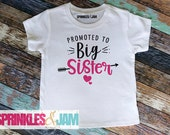 FREE SHIPPING Big Sister Shirt - Promoted to Big Sister - Big Sister Finally - Pregnancy Annoucement