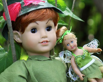 Whimsical OOAK Custom American Girl Doll Peter Pan Tinkerbell Lot New in Box NIB