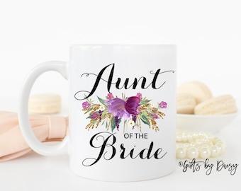 Aunt of the bride mug, custom mug, coffee mug, gift for aunt, gift for her, Tia mug, coffee mug gift, wedding mug, favors, christmas, m-115