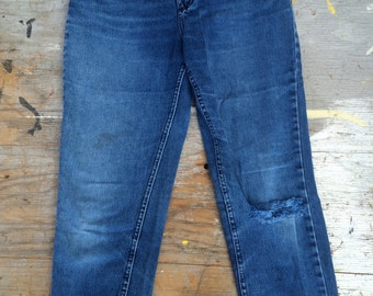 vintage 1980s high waisted lee denim jean