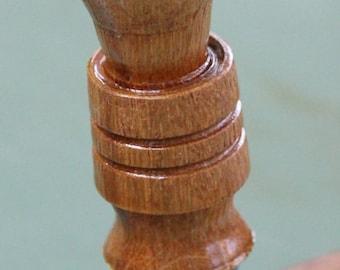 Hand Turned Bottle Stopper - Oak Wine Barrel