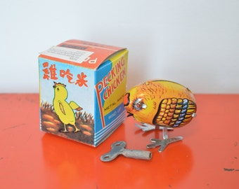 Vintage Retro Style Metal Wind Up Chick Toy. Perfect for Easter.