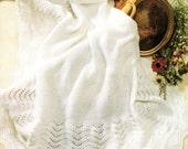 Baby Blankets / Shawls knitting Pattern, Peter Pan P820, Baby Knitting Patterns, Baby Blanket Patterns, Baby Shawl, Easy Knitting Patterns,