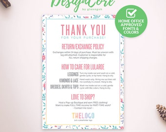 Thank You Cards, Care Cards, Home Office Approved, Personalized, Simple Floral, Digital File, Marketing, Fashion Consultant Retail, DCTYC003