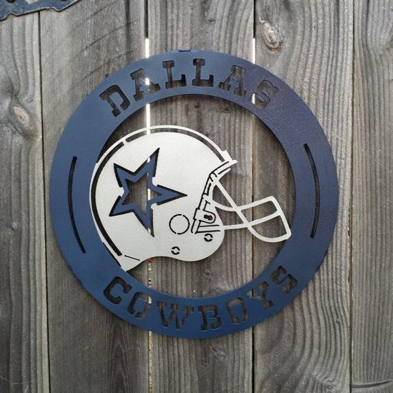 Dallas Cowboys Welcome Home Sign: Items Similar To Dallas Cowboys Metal Sign Emblem Football
