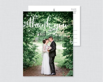 Printable OR Printed Wedding Thank You Postcards - Photo Thank You Postcards for Wedding - Photo Postcards with Picture 0002