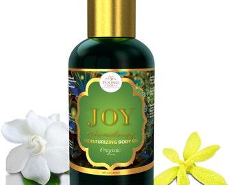 Joy Oil. Organic massage Oil  body moisturizer, bath oil, massage oil, aromatherapy mood enhancer. Neroli Jasmin YlangYlang