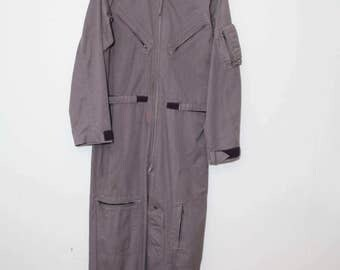 Vintage 1980's Airforce Style Futuristic Cyber Coveralls With Belt   Size Medium