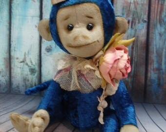 Teddy Bear , Teddy monkey ,  Soft toy monkey ,  Gift for a girl , Plush animals .