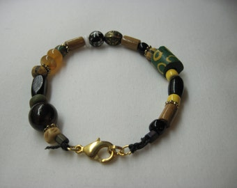 Maputo African Trade Bead Bracelet
