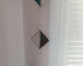 Triple Square Stained Glass Window Charm