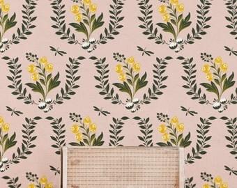 "False damask wallpaper floral ""Marais"""