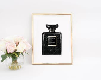 Coco Chanel Parfum,Chanel Paris Parfum,Chanel Wall Art,Chanel Illustration,Coco Chanel Decor,Women Gift,Chanel Poster,Chanel Print,Printable