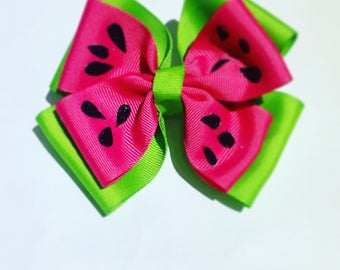 Summer Watermelon Hair Bow