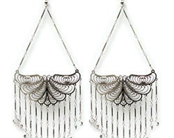 Edie Sedgwick  Butterfly Earrings  with channels Factory Girl