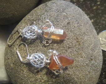 Titanium Crystal Wire Wrapped Earrings