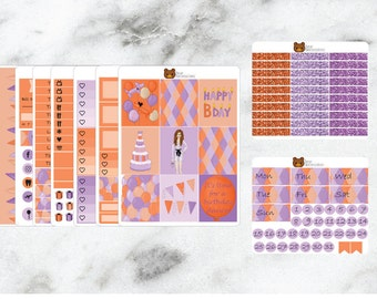 Happy Bday Planner Stickers Erin Condren