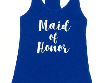 Bridesmaid Tank Top, Maid of Honor Tank Top, Brides Squad, Bride Tank Top, Wedding Tanks / CL