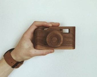 Hand Crafted Wooden Toy Camera