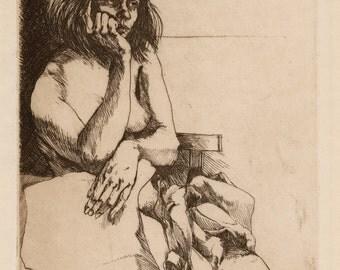 "SIGMUND ABELES (American, b. 1934), ""Morning"", 1969, etching, pencil signed"