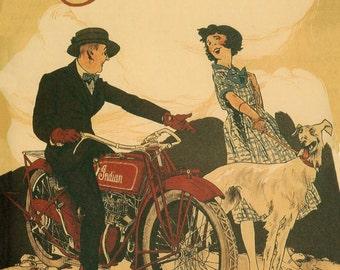 Indian Motorcycle - Indian Motorcycle Sign - Indian Motorcycle Art - Indian Motorcycle Wall Art- Indian Motorcycle Print (JS00141)