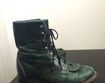 Vintage Distressed Green Ropers Womens sz 7