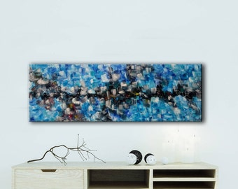summer mood abstract painting,large original painting,wedding gift,Colorfull art,Contemporary abstract pool colors art,Expresionism Painting