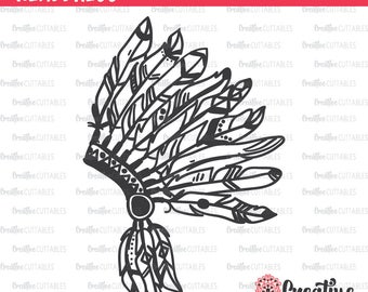 Native American Headdress SVG Digital Cut File