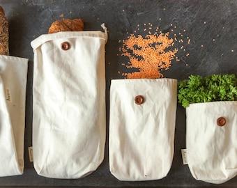 10% DISCOUNT CODE: JUNE2017  -Package Reusable fabric bag bulk/snacks  (5 pcs)