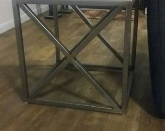 Metal Side Table with tile top