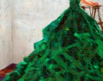 Green Dress Limited Edition Giclee