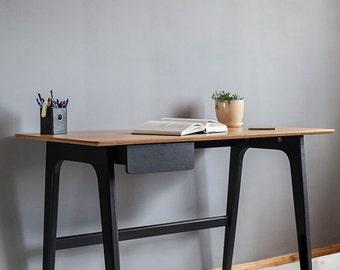 Modern scandinavian desk minimalistic century modern style with drawer