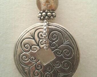 Vintage Necklace, Vintage Jewelry, Vintage, Vintage pendant, Chain necklace, Women, Silver Chain necklace, Necklace Vintage, Old Jewelry