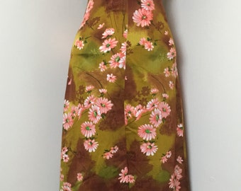 Beautiful Vintage 1970's Floral Halter Maxi Dress