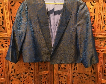 Vintage 1940's Eva Bottom Baltimore Bolero jacket- Silk brocade