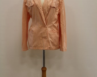 Double Breasted Blazer (Salmon Pink)