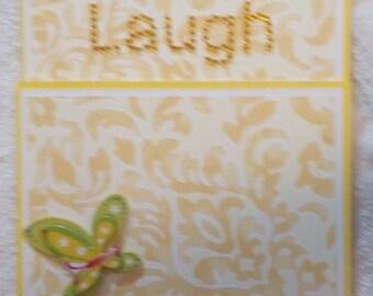 Handmade Just Because Greeting Card with Custom Envelope