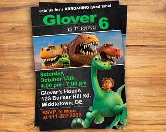 Good Dinosaur Invitation, Printable Good Dinosaur Party, Good Dinosaur Birthday, Good Dinosaur Invite, Good Dinosaur Invitation, Dinosaur
